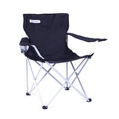 Туристичне розкладне крісло Spokey Angler 84x54x81 см Чорне (s0259)