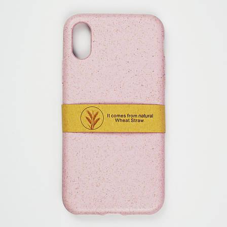 Биоразлагаемый чехол ECO Wheat Straw для iPhone X / Xs Pink, фото 2