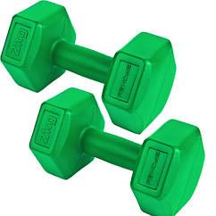 Гантели композитные Spokey MONSTER II 2х2 кг Зеленые (s0272)