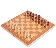 Набір ігор Шахи шашки нарди 3 в 1 дерев'яні ZELART Шахова дошка 29x 29см (W7722)