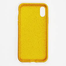 Биоразлагаемый чехол ECO Wheat Straw для iPhone X / Xs Yellow, фото 3