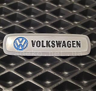 Шильдик (эмблема) с логотипом Volkswagen для авто ковриков EVA.