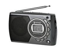 Портативный радиоприемник VITEK VT-3583 На батарейках Серый