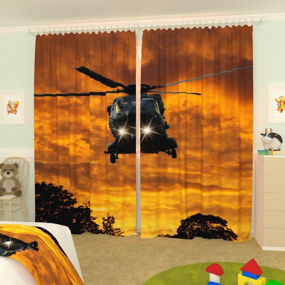 Фотошторы для дитячої повітряні війська