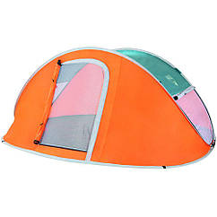Палатка туристична Bestway 68006 Nucamp чотиримісна Помаранчевий (006806)