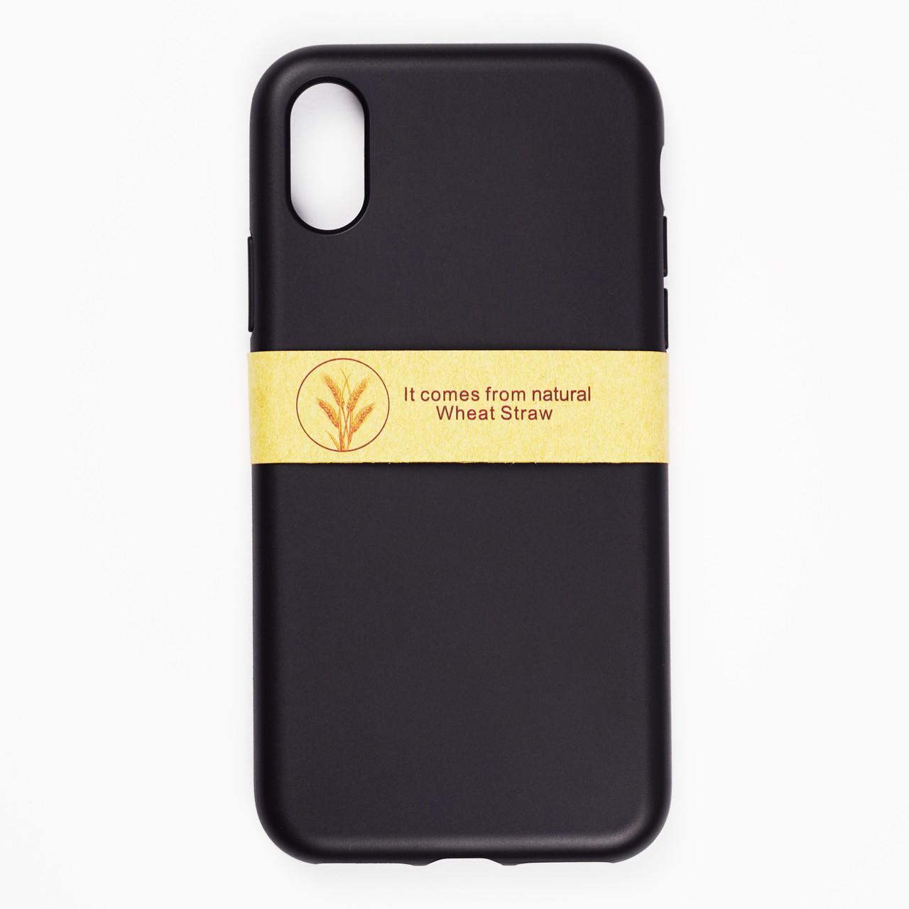Биоразлагаемый чехол ECO Wheat Straw для iPhone X / Xs Black