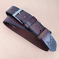 УЦЕНКА!! Ремень мужской кожаный коричневый Buffalo Wild PSB-02-GG 127 см (дефект), фото 1
