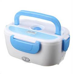 Автомобільний ланч-бокс з підігрівом Electronic Lunch Box Біло-блакитний (htwsh)