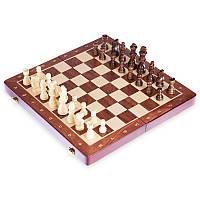 Гральний шаховий набір дерев'яний ZOOCENДошка 35x 35см Коричневий (X3118)