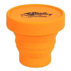 Складной стакан силиконовый Tramp TRC-083 с крышкой 180мл Orange
