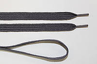 Шнурки плоские 10мм, св. серый