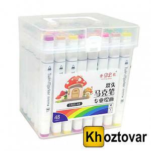 Набор скетч-маркеров в пластиковом боксе | 36 цветов