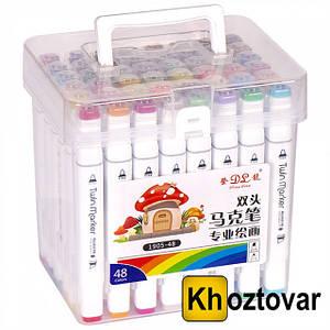 Набор скетч-маркеров в пластиковом боксе | 48 цветов