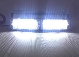 Стробоскоп проблисковий LED на лобове скло білий .Проблисковий сигнальний маячок для авто -12V