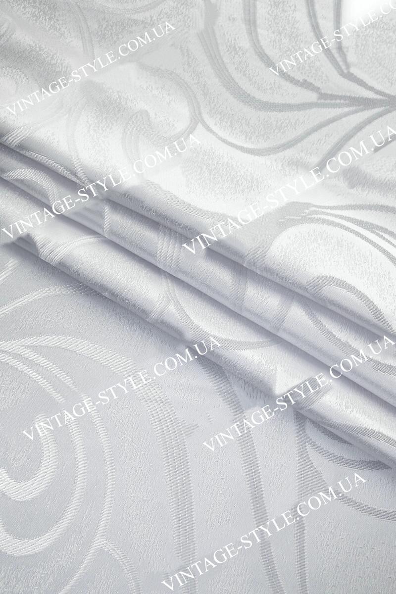 Тканина для штор полторашка Авиор білий Y-10493