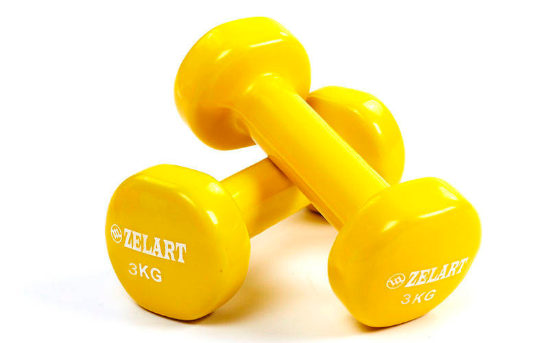 Гантели planeta-sport Zelart Beauty TA-5225-3 2 х 3 кг Желтый