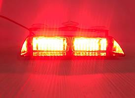 LED Стробоскоп проблисковий на лобове скло червоний .Стробоскоп сигнальний маячок для авто -12V