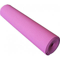 Килимок для йоги та фітнесу Power System PS-4014 173х61х0.6 см Рожевий (36-145265)