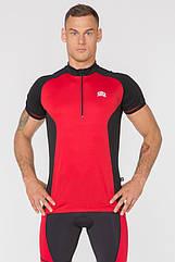 Чоловіча велофутболка Radical Racer SX M Чорний з червоним (r0613)