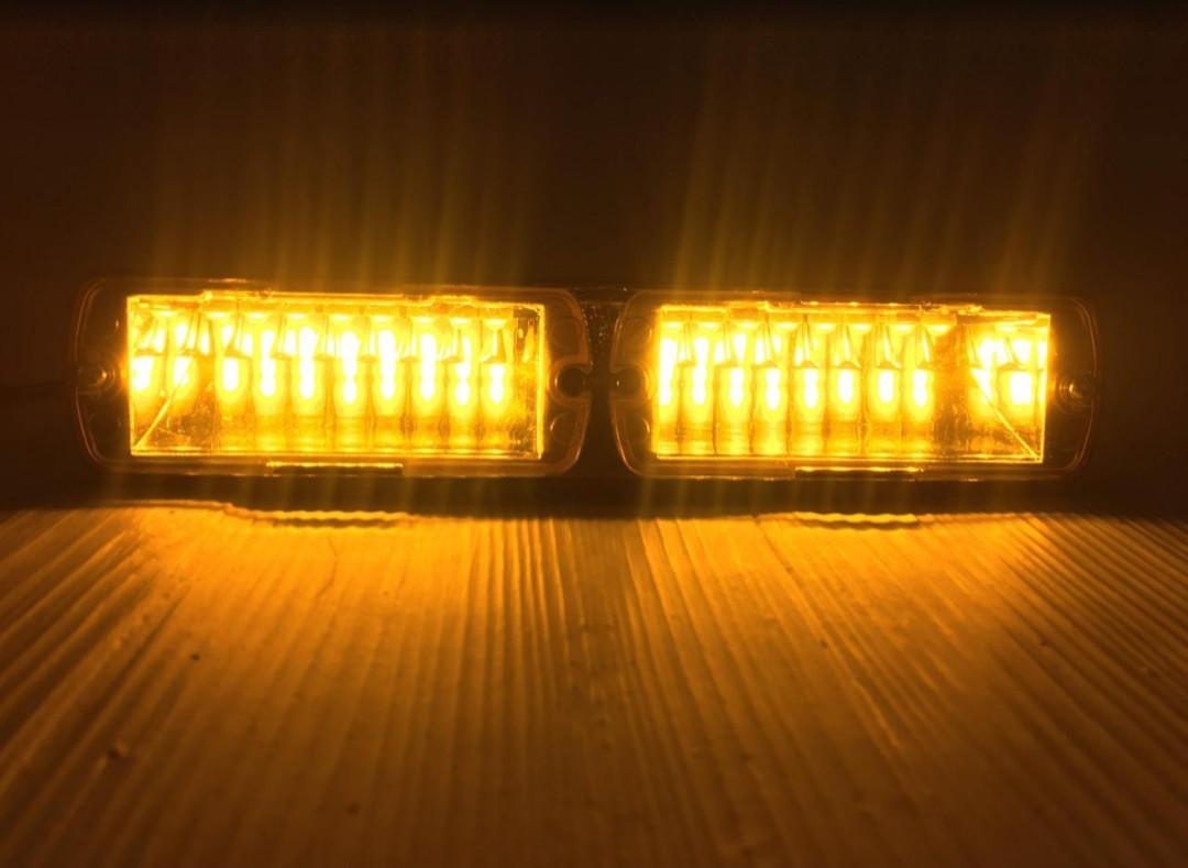 LED Проблесковый стробоскоп на лобовое стекло,желтый .LED сигнальный маячок для авто -12V