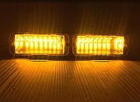 LED Проблесковый стробоскоп на лобовое стекло,желтый .LED сигнальный маячок для авто -12V, фото 1