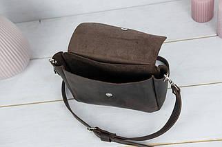 "Женская кожаная сумка ""Макарун XL"", Винтажная кожа, цвет Шоколад, фото 3"