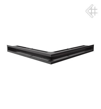 Вентиляционная решетка для камина KRATKI люфт угловая 560х560х60 мм SF черная, фото 2