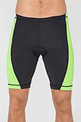 Мужские велошорты Radical Racer Pro XL Черно-зеленые (r0692)