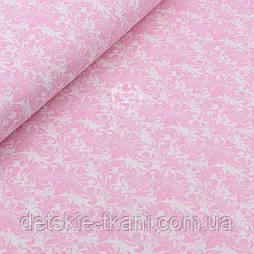 """Відріз бавовняної тканини """"Рожевий вітер"""" №1979, розмір 130 * 160 см"""