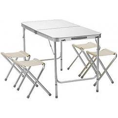 Стол для пикника со стульями Pinguin Folding table Белый