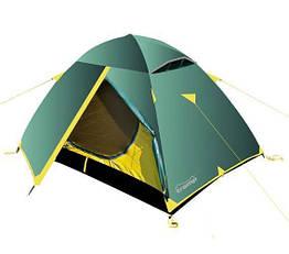 Палатка туристична тримісна Tramp Scout 3 V2 TRT-056 Зелений з жовтим (iz00051)