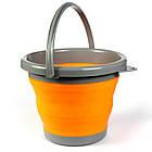 Ведро складное силиконовое Ranger RA 8854 на 5 л, оранжевое, фото 3