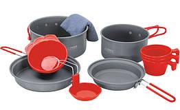 Набір посуду Terra Incognita Tri Сірий з червоним (TI-TRI)