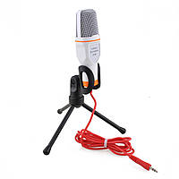 Конденсаторний настільний мікрофон (1.8 м) всеспрямований провідний для комп'ютера ноутбука Soncm SF-666, фото 1