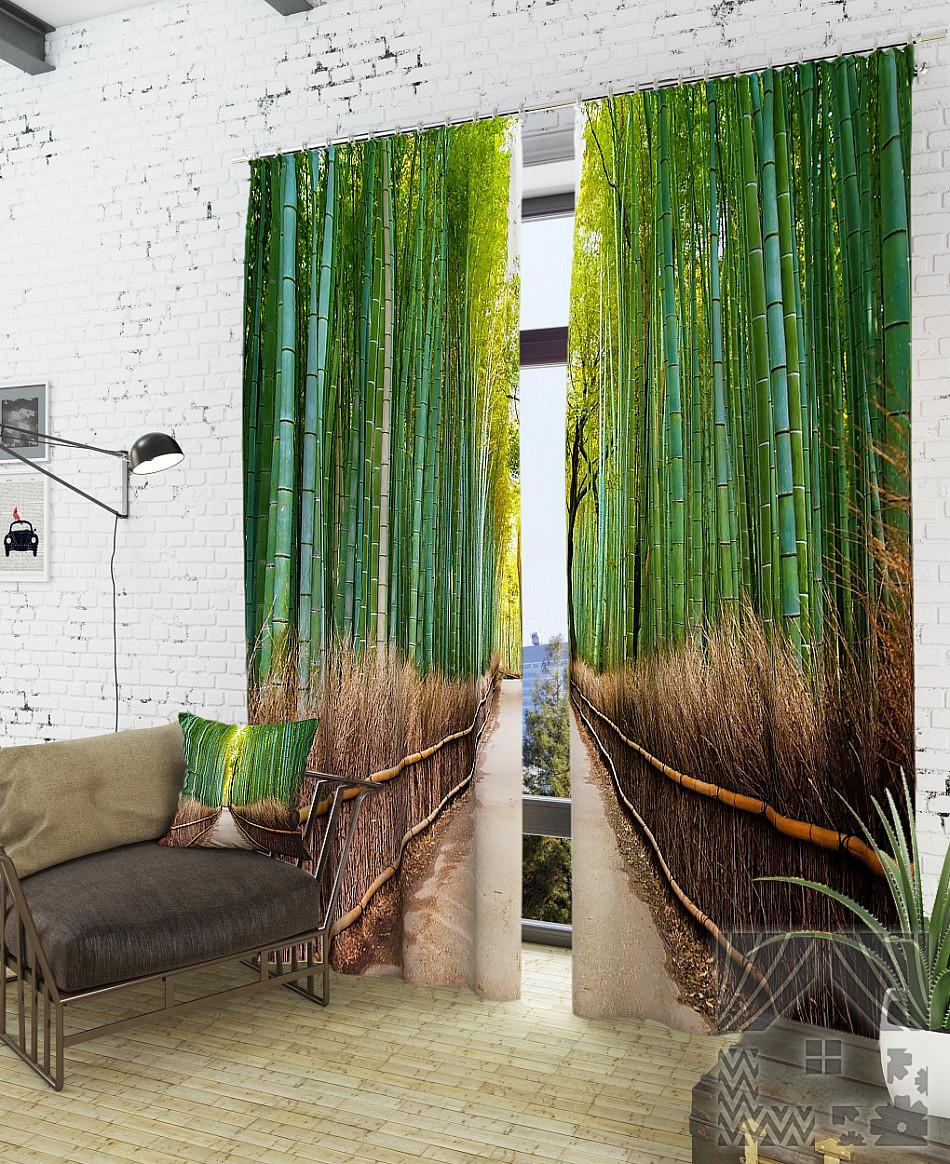 Фотошторы бамбуковий гай
