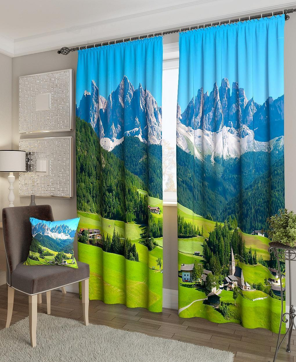 Фотошторы гори в Швейцарії