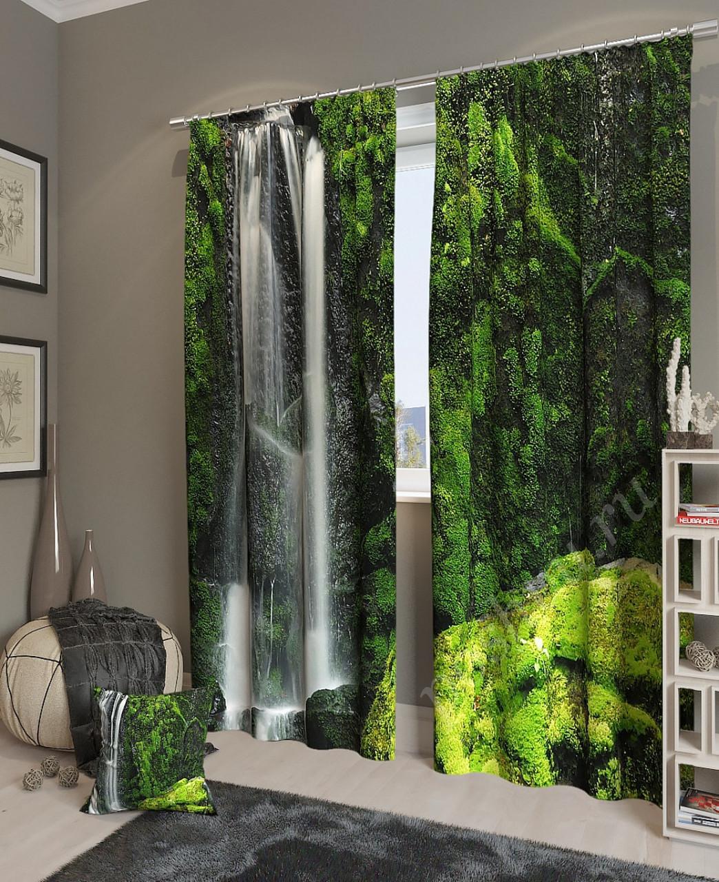Фотошторы красивый водопад