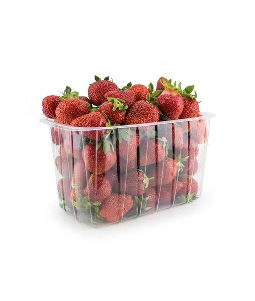 Пластиковый судок для упаковки ягод, фруктов 1 кг ПЭТ 190x114x114 мм