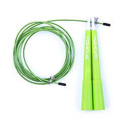 Скакалка стальная Spokey Crossfit II регулируемая Зеленая (s0602)