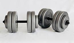Гантели WCG 2х13 кг Серые (310.001.003)