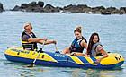 """Лодка надувная трехместная с веслами и насосом Intex 68370 """"Challenger"""" Синий, фото 4"""