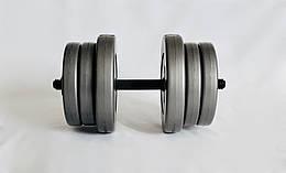 Гантель WCG 20 кг Серая (310.001.014)