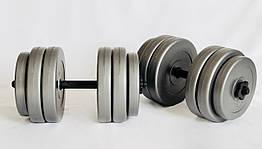 Гантели WCG 2х25 кг Серые (310.001.008)