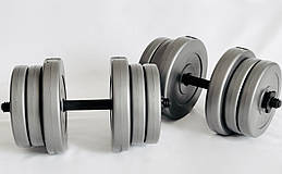 Гантели WCG 2х20 кг Серые (310.001.006)