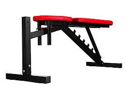 Скамья для жима WCG Pro-20  регулируемая Черная с красным