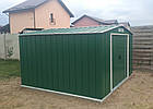 Сарай металевий Duramax ECO 202x182x181 см Зелений з білим, фото 4