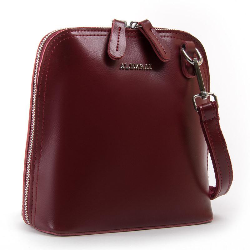 Женский клатч красный кожаный 21*21*10 см. BST 300461