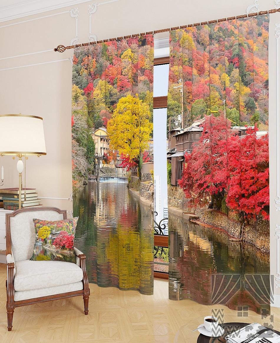 Фотошторы фарби осені