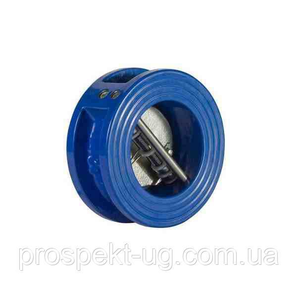 Клапан обратный межфланцевый двухлепестковый подпружиненный ду300
