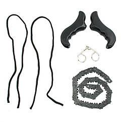 Ручна кишенькова ланцюгова пила Adenki Pocket Chain Saw нержавіюча сталь Чорний (46-913858143)